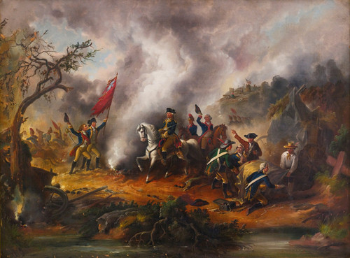 Art Prints of George Washington at the Battle of Monmouth, American School