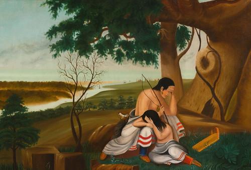 Art Prints of The Empty Papoose, American School