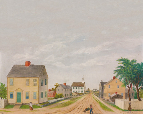 Art Prints of Village Street, American School