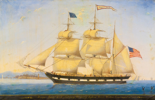 Art Prints of James Cook Entering the Port of Leghorn American School