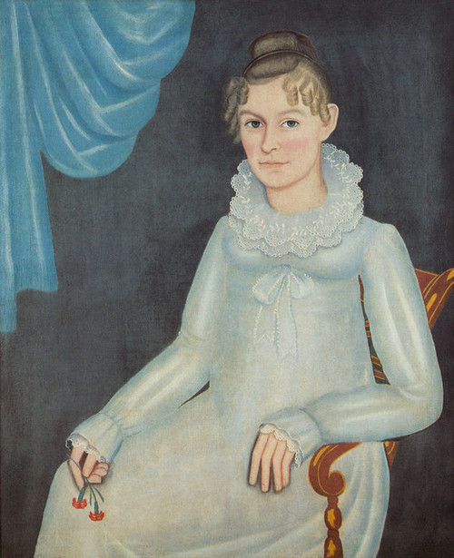 Art Prints of Portrait of a Young Girl, Ruth Haynes by Ammi Phillips