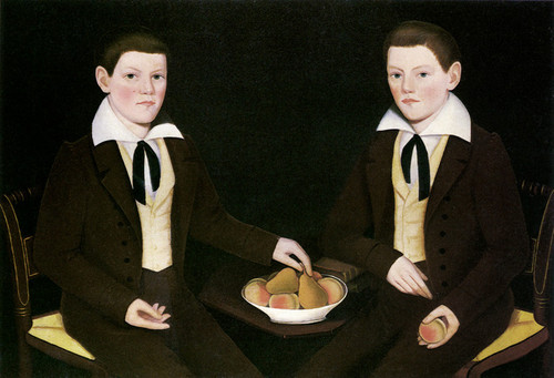 Art Prints of The Ten Broeck Twins by Ammi Phillips
