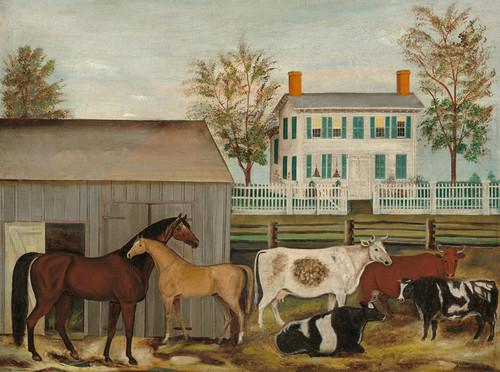 Art Prints of The Barnyard by Amzi Emmons Zeliff