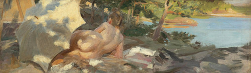 Art Prints of Bather with Parasol by Anders Zorn