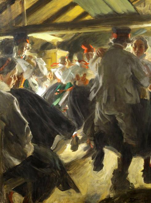 Art Prints of Dance in Gopsmor by Anders Zorn