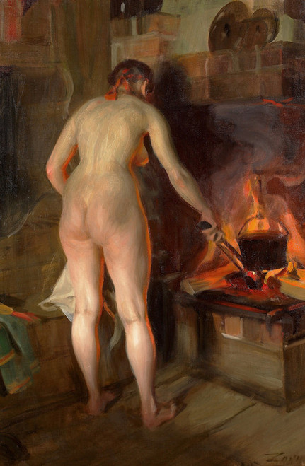 Art Prints of Potato Kettle by Anders Zorn