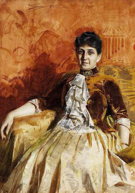 Art Prints of Portrait of Lisen Lamm by Anders Zorn