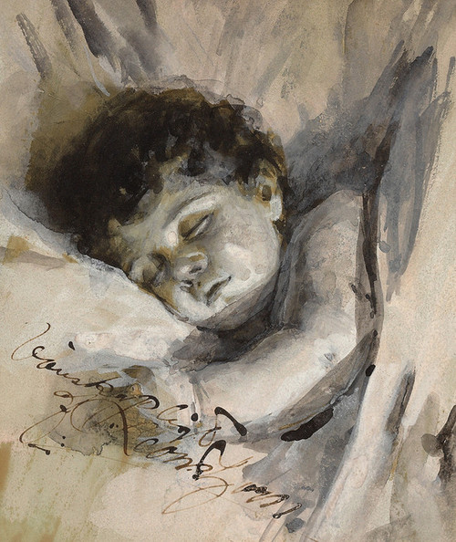 Art Prints of Sleeping Child by Anders Zorn