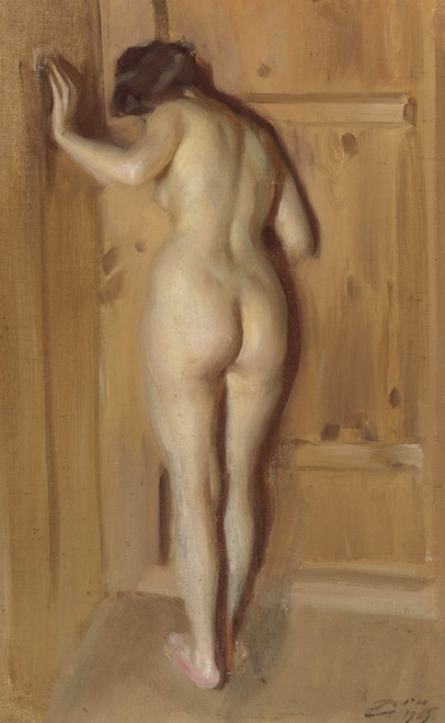 Art Prints of The Chamber Door by Anders Zorn