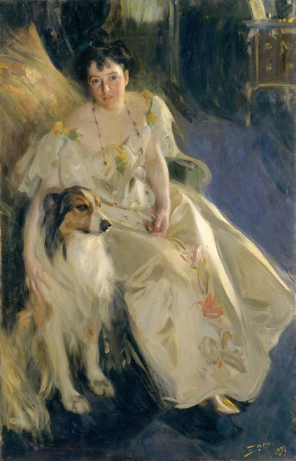 Art Prints of Mrs. Walter Rathbone Bacon or Virginia Purdy Barker by Anders Zorn