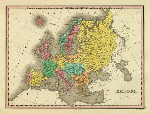 Art Prints of Europe, 1831 (90285035) by Anthony Finley