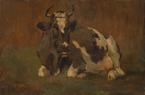 Art Prints of Cow in a Landscape by Anton Mauve