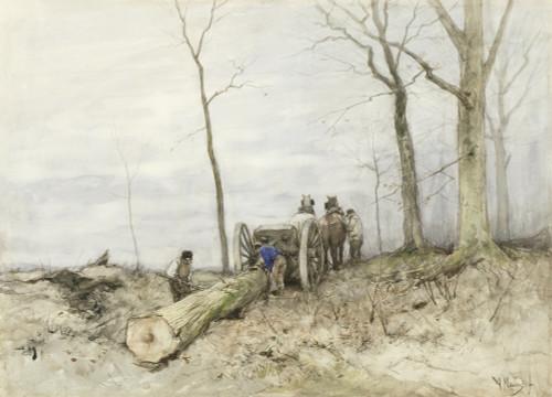 The Mallejan by Anton Mauve   Fine Art Print