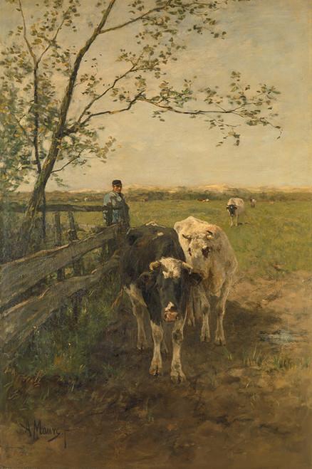 Art Prints of The Milk Bend by Anton Mauve