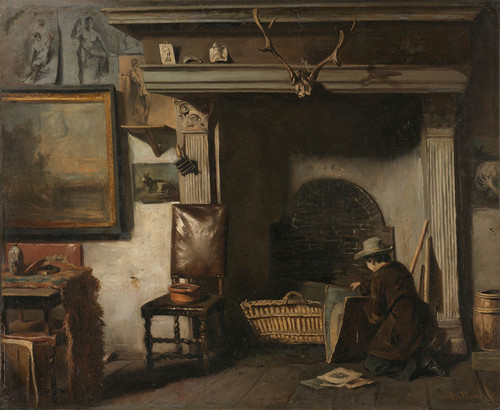 Art Prints of The Studio of a Haarlem Painter, Frederik Van by Anton Mauve