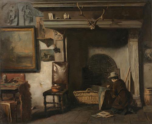Art Prints of The Studio of a Haarlem Painter, Frederik Van by Anton Mauve