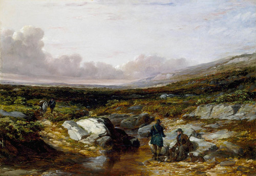 Art Prints of Deer Stalking in Scotland, Getting Ready by Arthur Fitzwilliam Tait