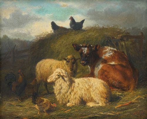 Art Prints of The Farmyard by Arthur Fitzwilliam Tait