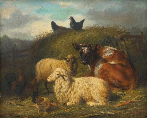 Art Prints of The Farmyard by Arthur Fitzwilliam Tait