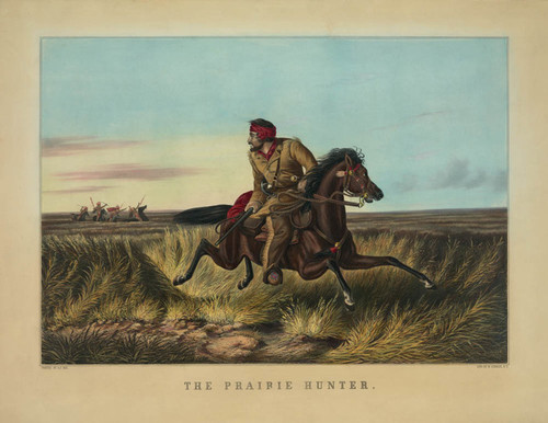 Art Prints of The Prairie Hunter by Arthur Fitzwilliam Tait