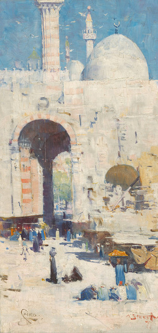 Art Prints of Cairo Street, Mosque Sultan Hassan by Arthur Streeton