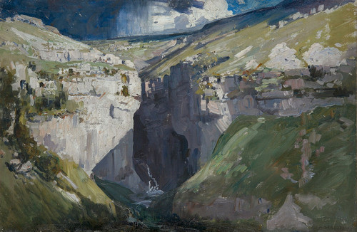 Art Prints of Goredale Scar, Sunny by Arthur Streeton