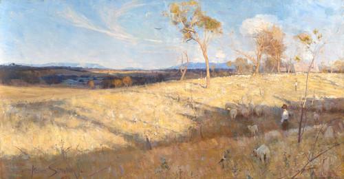 Art Prints of Golden Summer, Eaglemont by Arthur Streeton
