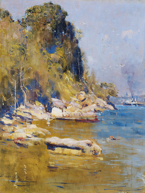 Art Prints of From My Camp, Sirius Cove by Arthur Streeton