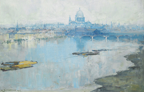 Art Prints of Saint Pauls and the River by Arthur Streeton