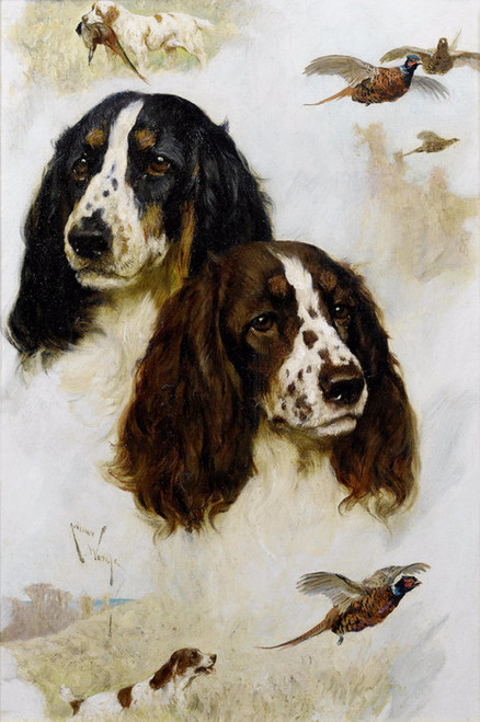 Art Prints of Keen Sportsman, Springer Spaniels by Arthur Wardle