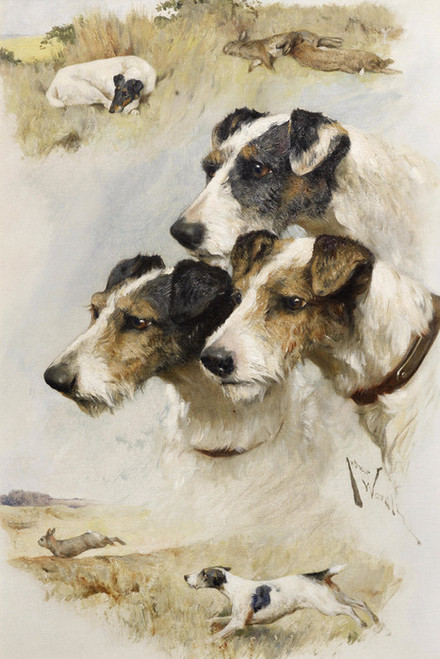 Art Prints of Memories of a Good Day's Sport by Arthur Wardle