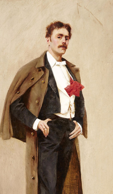 Art Prints of Self Portrait with Pocket Square by Arthur Wardle