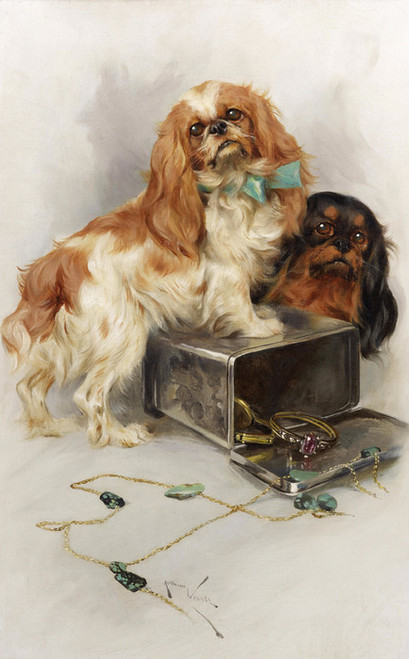 Art Prints of Toy Spaniels by Arthur Wardle