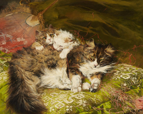 Art Prints of The Green Pillow by Arthur Wardle