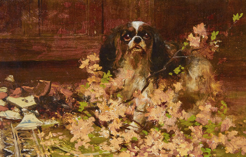 Art Prints of The Culprit, Toy Spaniel by Arthur Wardle
