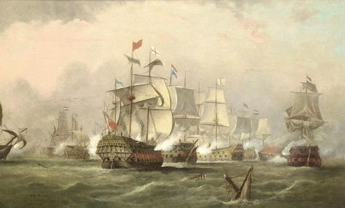 Art Prints of The Battle of Texel, August 11th, 1673 by Arthur Wellington Fowles