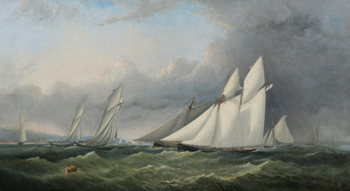 Art Prints of A Yacht Race on the Solent of Wight by Arthur Wellington Fowles