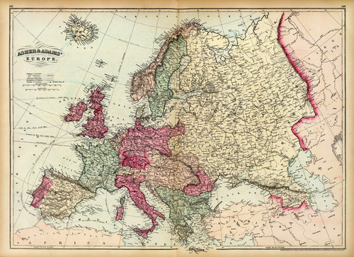 Art Prints of Europe, 1874 (0041043) by Asher and Adams