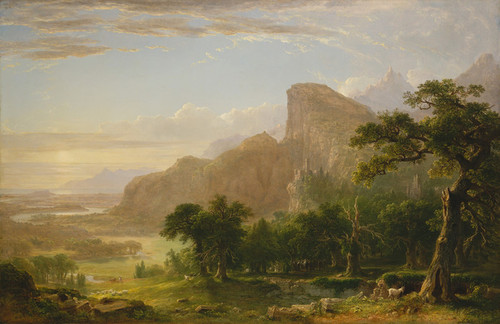 Art Prints of Landscape Scene from Thanatopsis by Asher Brown Durand
