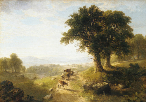 Art Prints of River Scene by Asher Brown Durand