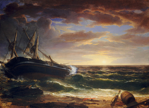 Art Prints of The Stranded Ship by Asher Brown Durand
