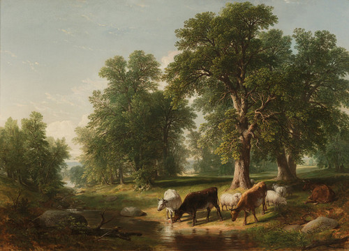 Art Prints of Summer Afternoon by Asher Brown Durand