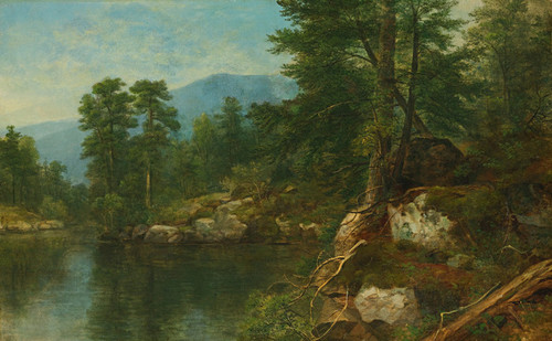 Art Prints of Woods by a River by Asher Brown Durand