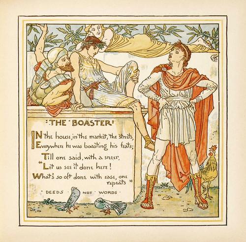 "Art Prints of The Boaster ""Deeds Not Words"", Aesop's Fables"