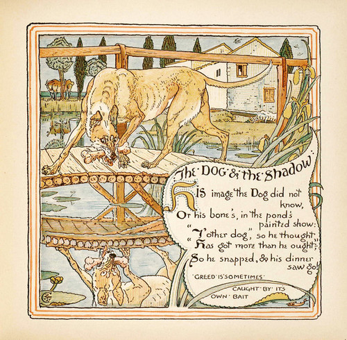 Art Prints of The Dog and the Shadow, Aesop's Fables