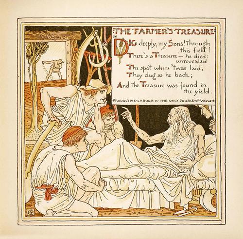 Art Prints of The Farmer's Treasure, Aesop's Fables