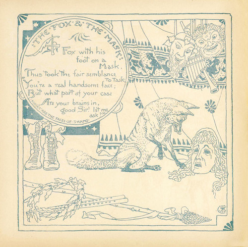 Art Prints of The Fox and the Mask, Aesop's Fables