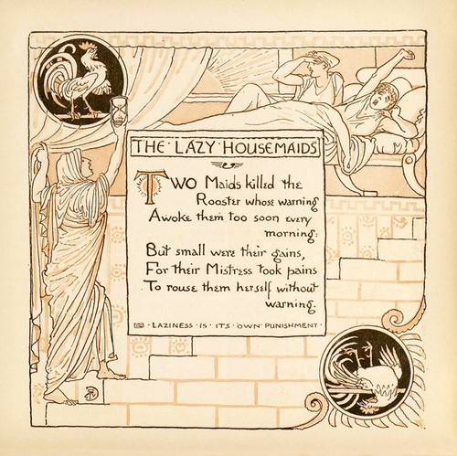 Art Prints of The Lazy Housemaids, Aesop's Fables