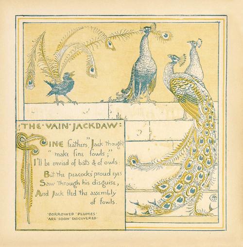 Art Prints of The Vain Jackdaw, Aesop's Fables