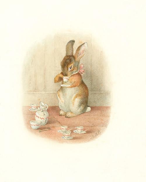 Art Prints of A Rabbit's Tea Party by Beatrix Potter